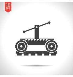 Color flat trolley icon epsflat black0 vector