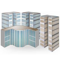 Condominium on a white background vector
