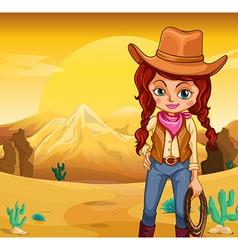 Desert Cowgirl vector