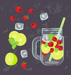 detox water menu vector image