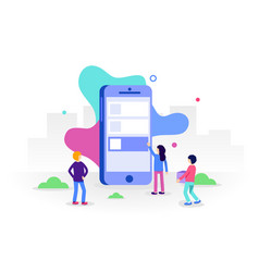 development mobile apps concept small people vector image
