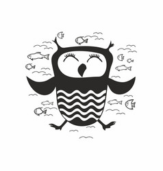 Dream owl vector