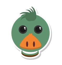 Duck animal farm isolated icon vector