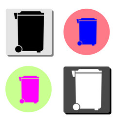dumpster flat icon vector image