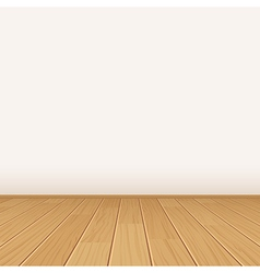 Empty room with wall and wooden floor vector