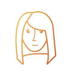 face woman vector image