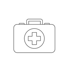 first aid kit line icon on white background vector image