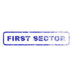 first sector rubber stamp vector image