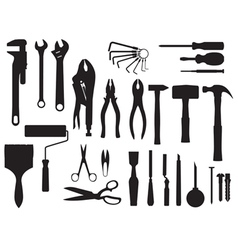 fix and tools black and white vector image