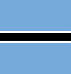 Flag of botswana in official colors and vector