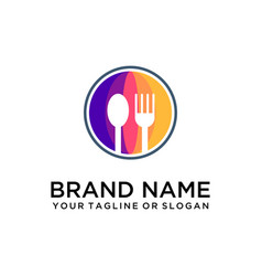 Food drink logo vector