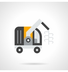 Forage harvester flat color icon vector image
