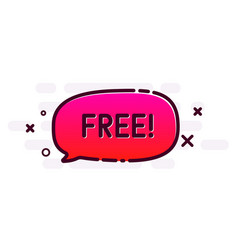 Free promo poster with pink speech bubble vector