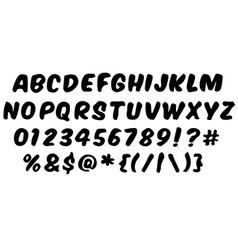 handwritten style modern font vector image