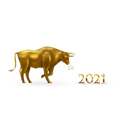 Happy chinese new year 2021 year ox lunar vector