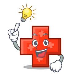 Have an idea cross mascot cartoon style vector