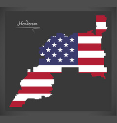 henderson nevada map with american national flag vector image