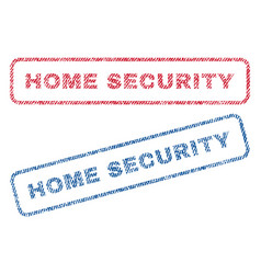 Home security textile stamps vector