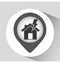 House and lightning bolt icon vector