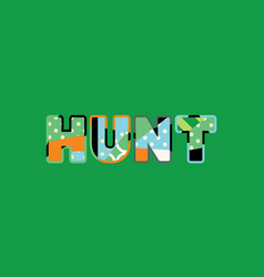 Hunt concept word art vector