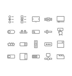 Line ui elements icons vector