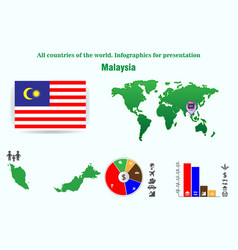 Malaysia all countries of the world infographics vector