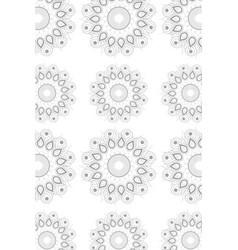 mandala colorful background vector image