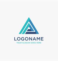 Modern triangle letter ap logo letter pa logo vector