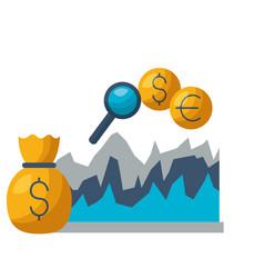 money bag diagram exchange stock market vector image
