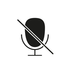 mute voice microphone icon vector image