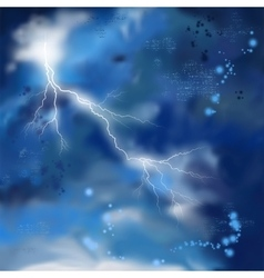 Night Storm Sky Painting Background vector image