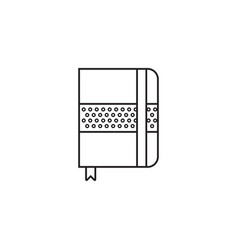 notebook thin line icon settings outline vector image