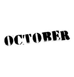 October black stamp vector