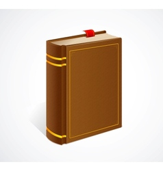 Old book with bookmark isolated icon vector