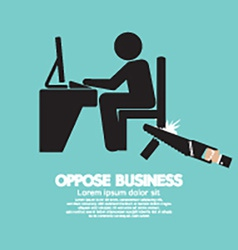 Oppose Business Black Symbol vector image