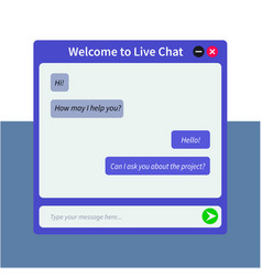 original live chat window for web pages vector image