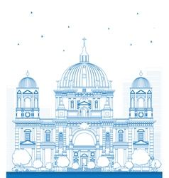 Outline Berlin Cathedral vector image