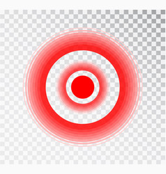 Pain red circle icon for painkiller medicine pill vector