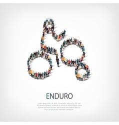 people sports enduro vector image