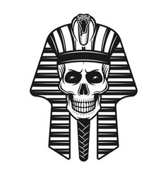 pharaoh skull egyptian ancient retro vector image