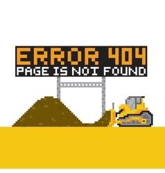 Pixel art style game error 404 vector image