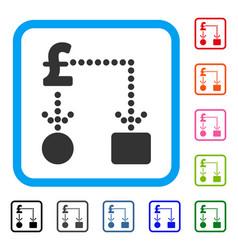 pound cashflow framed icon vector image