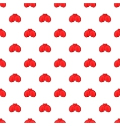 Red boxing gloves pattern cartoon style vector
