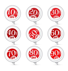 Red Discount Stickers Labels Set vector image