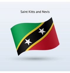 Saint Kitts and Nevis flag waving form vector