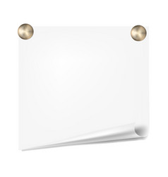 Scratch paper on a white wall note paper vector