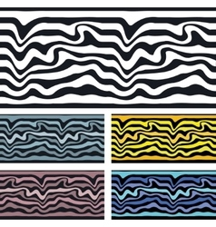 Seamless pattern background Zebra and wave vector