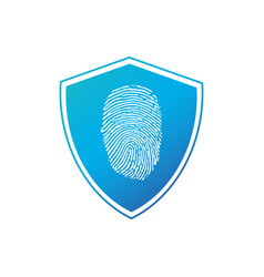 security concept icon fingerprint shield business vector image