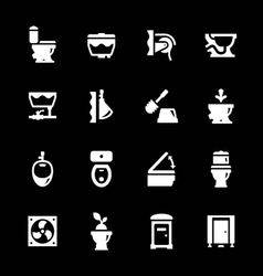 Set icons of toilet vector