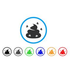 shit flies icon vector image